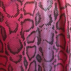 Vertigo Paris Pants - Like New! Purple Snake Skin Print Pants Vertigo